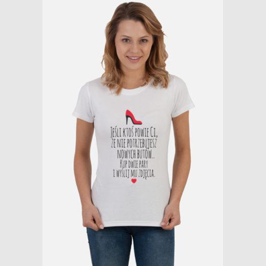 Kup dwie pary i wyślij mu zdjęcia :D - koszulka damska z nadrukiem