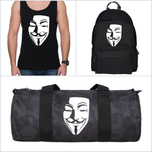 Nadruk Anonymous Maska Vendetta Guy Fawkes