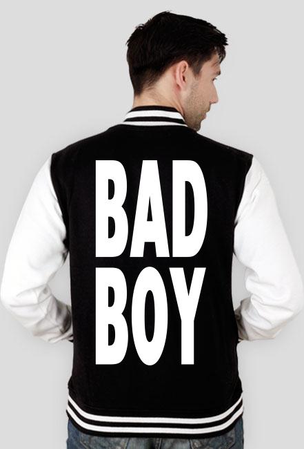 BAD BOY - bluza typu college z nadrukiem