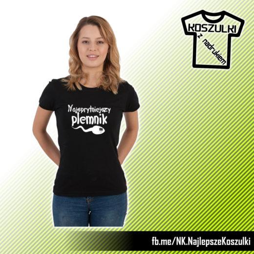 Najsprytniejszy Plemnik - humorystyczna koszulka z nadrukiem - pomysł na prezent