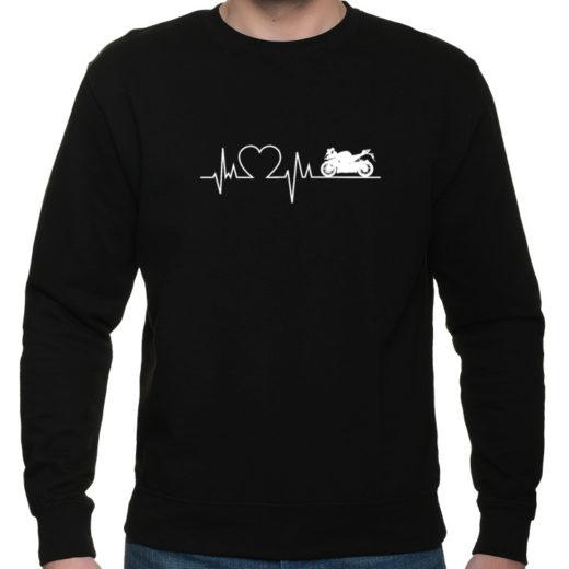 Motocyklowa linia życia - bluza klasyczna z nadrukiem