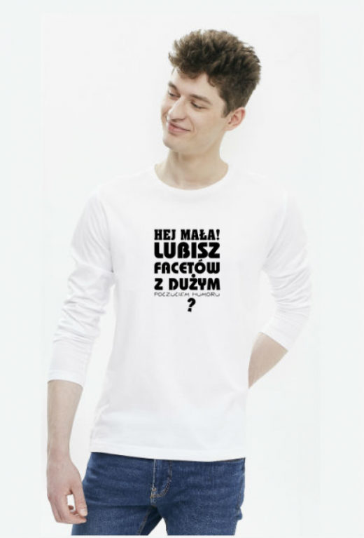 Facet z dużym poczuciem humoru - koszulka męska z nadrukiem