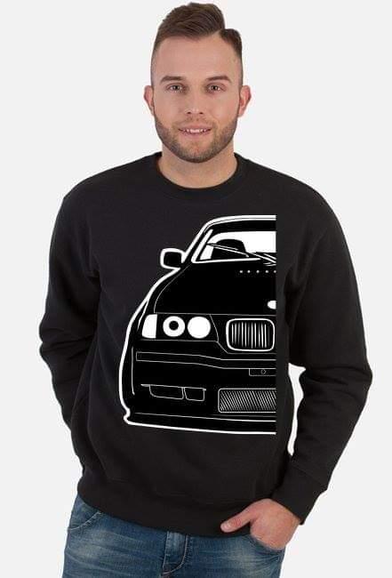 Black E36 Coupe Project - bluza klasyczna z nadrukiem