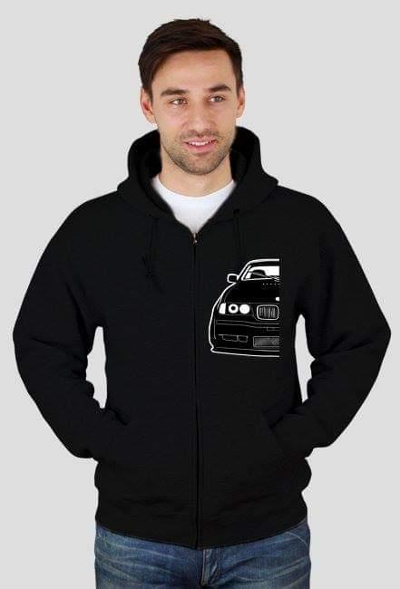 Black E36 Coupe Project - bluza na zamek z nadrukiem
