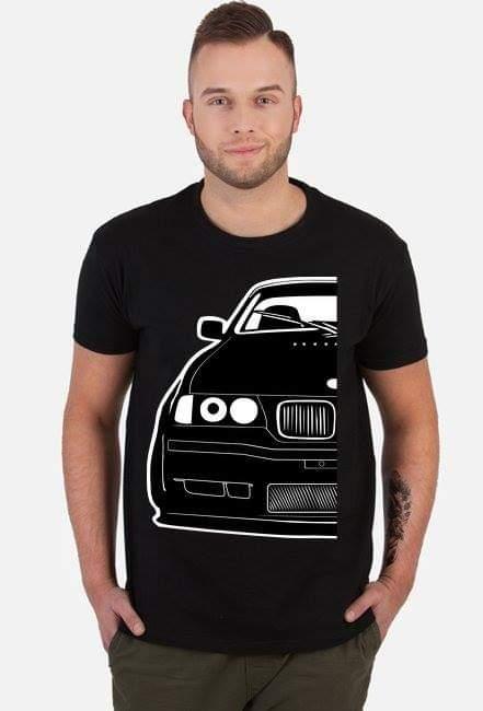 Black E36 Coupe Project - t-shirt, koszulka z nadrukiem