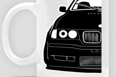 Black E36 Coupe Project - kubek z nadrukiem