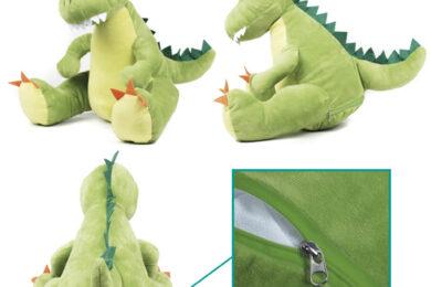 Maskotka Dinozaur - wyszyty napis (haft komputerowy)