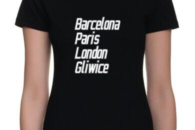 Visit Gliwice - t-shirt koszulka damska z nadrukiem