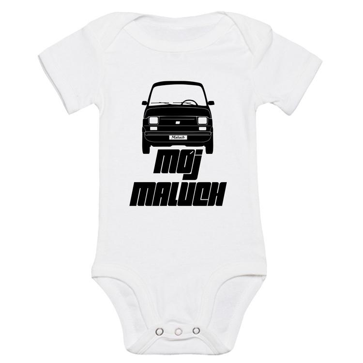126p - Mój Maluch - body niemowlęce z nadrukiem Fiat