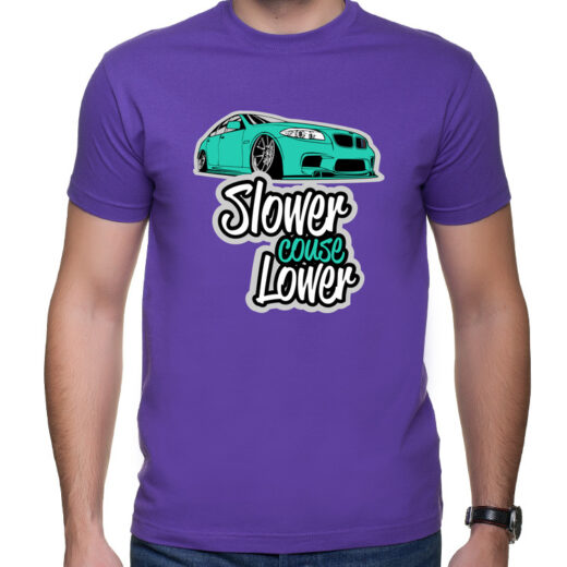 Slower Couse Lower - Slammed BMW M5 F10 - Koszulka T-shirt z nadrukiem