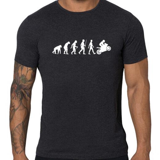 Biker's Evolution - t-shirt, koszulka z nadrukiem