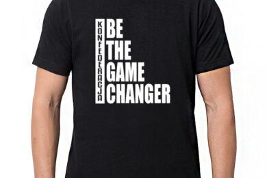 Konfederacja - BE THE GAME CHANGER - t-shirt/koszulka z nadrukiem