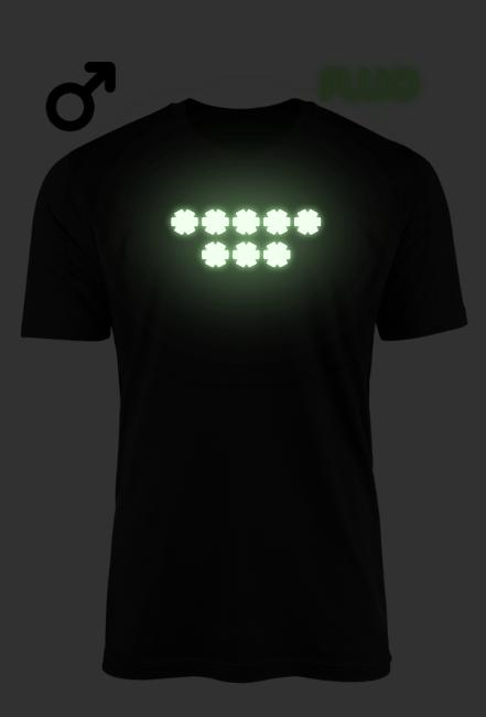 Płatki Śniegu - Osiem gwiazdek - koszulka z nadrukiem fluorescencyjnym