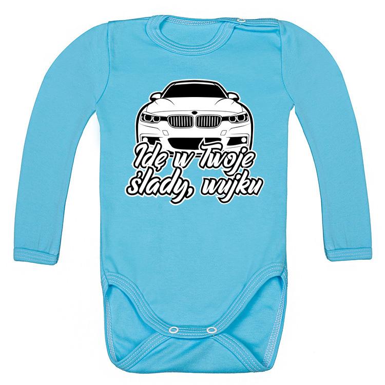 BMW F30 - Idę w Twoje ślady, wujku - bodziaki / body niemowlęce z nadrukiem