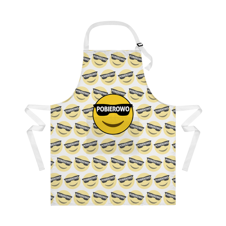 Pobierowo emoji pattern - Fartuch kuchenny FULLPRINT